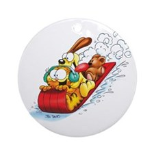 Sledding Fun! Ornament (Round)