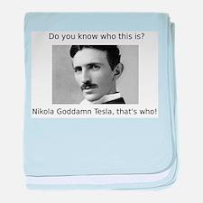 Nikola Goddamn Tesla baby blanket
