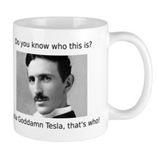 Nikola Goddamn Tesla Mug