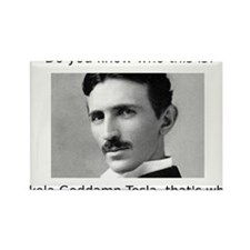 Nikola Goddamn Tesla Rectangle Magnet