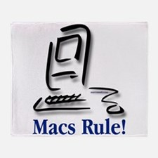 Macs Rule! Throw Blanket