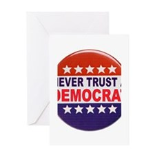 DEMOCRAT POLITICAL BUTTON Greeting Card