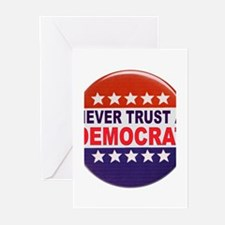DEMOCRAT POLITICAL BUTTON Greeting Cards (Pk of 10