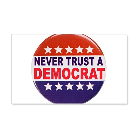 DEMOCRAT POLITICAL BUTTON 20x12 Wall Decal