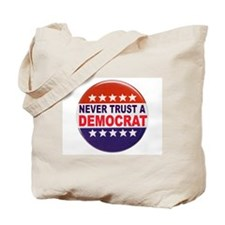DEMOCRAT POLITICAL BUTTON Tote Bag
