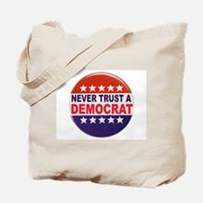 DEMOCRAT POLITICAL BUTTON Tote Bag