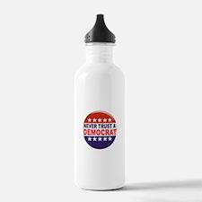 DEMOCRAT POLITICAL BUTTON Water Bottle