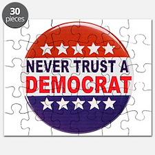 DEMOCRAT POLITICAL BUTTON Puzzle