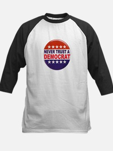 DEMOCRAT POLITICAL BUTTON Kids Baseball Jersey