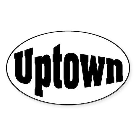 Uptown Oval Sticker