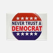 DEMOCRAT POLITICAL BUTTON Rectangle Magnet