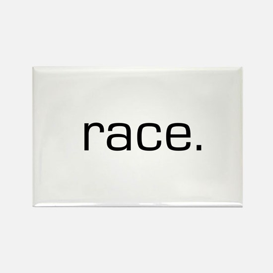 Race Rectangle Magnet