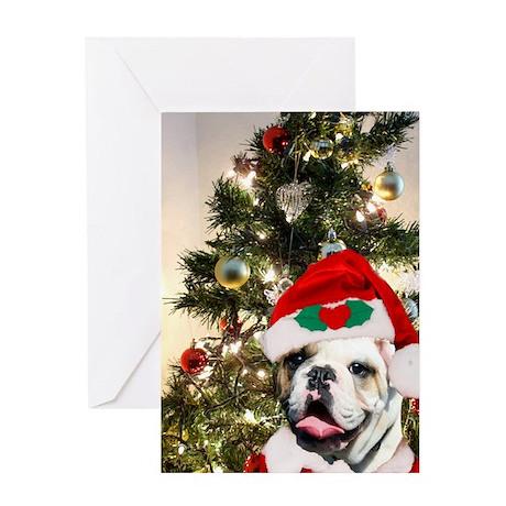 Christmas bulldog Greeting Card