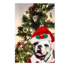 Christmas bulldog Postcards (Package of 8)