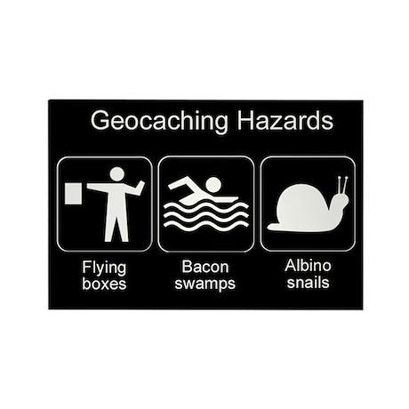 Geocaching Hazards Rectangle Magnet (10 pack)