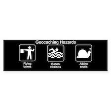 Geocaching Hazards Bumper Bumper Sticker