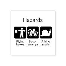 """Geocaching Hazards Square Sticker 3"""" x 3"""""""