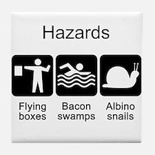 Geocaching Hazards Tile Coaster