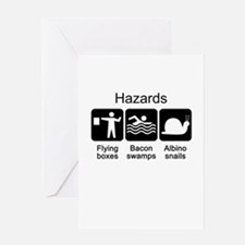 Geocaching Hazards Greeting Card