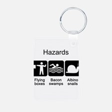 Geocaching Hazards Keychains