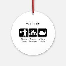 Geocaching Hazards Ornament (Round)