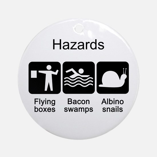 Geocaching Hazards Ornament (Round)