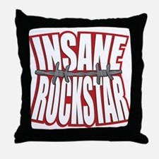 Insanity - Barbed Wire Throw Pillow