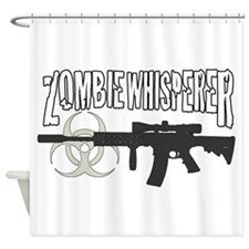 Zombie Whisperer 3c Shower Curtain