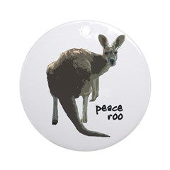 Peace Roo Christmas Tree Ornament