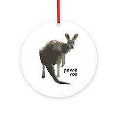 Peace Roo Christmas Tree Ornament