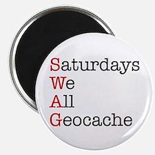 Saturdays we all geocache Magnet