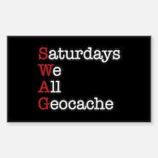 Saturdays we all geocache Decal