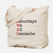 Saturdays we all geocache Tote Bag