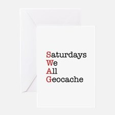 Saturdays we all geocache Greeting Card
