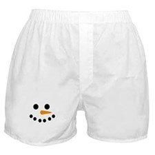 Snowman Face Boxer Shorts