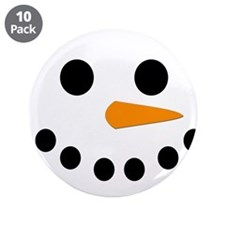 "Snowman Face 3.5"" Button (10 pack)"