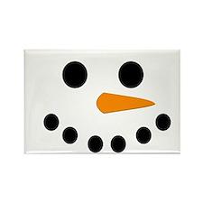 Snowman Face Rectangle Magnet