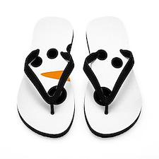 Snowman Face Flip Flops