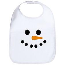 Snowman Face Bib