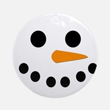 Snowman Face Ornament (Round)