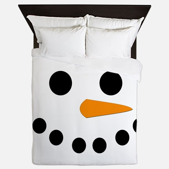 Snowman Face Queen Duvet