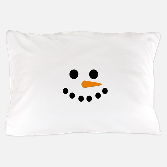 Snowman Face Pillow Case