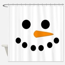 Snowman Face Shower Curtain