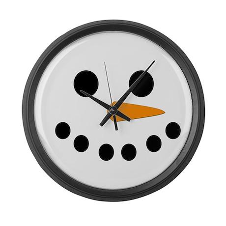 Snowman Face Large Wall Clock