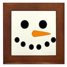 Snowman Face Framed Tile