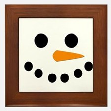 Snowman Face Framed Tile