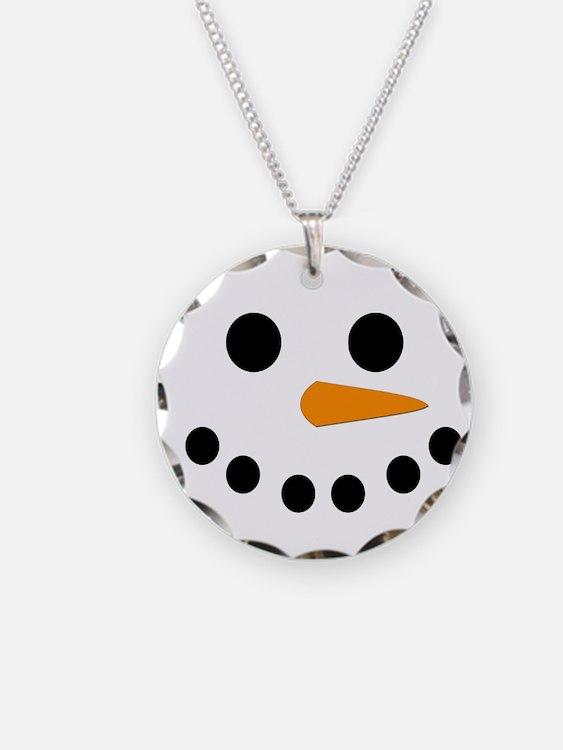 Snowman Face Necklace