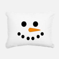 Snowman Face Rectangular Canvas Pillow