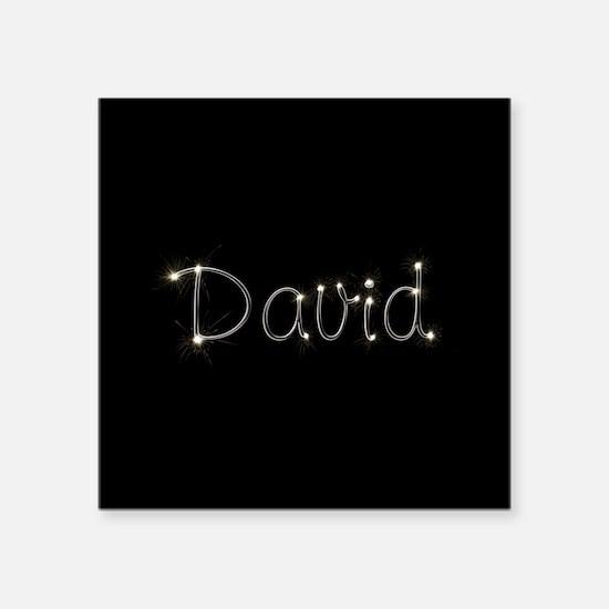 "David Spark Square Sticker 3"" x 3"""
