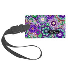 trendy flowers with name purple Luggage Tag